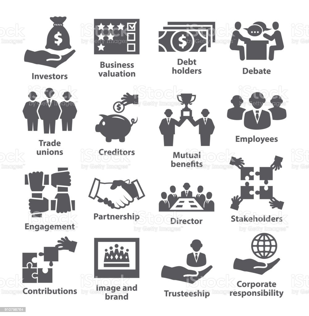 Business management icons Pack 32 vector art illustration