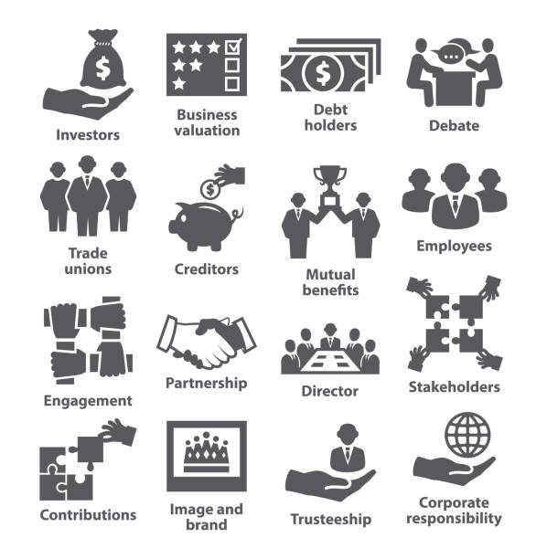 business management icons pack 32 - verlobung stock-grafiken, -clipart, -cartoons und -symbole