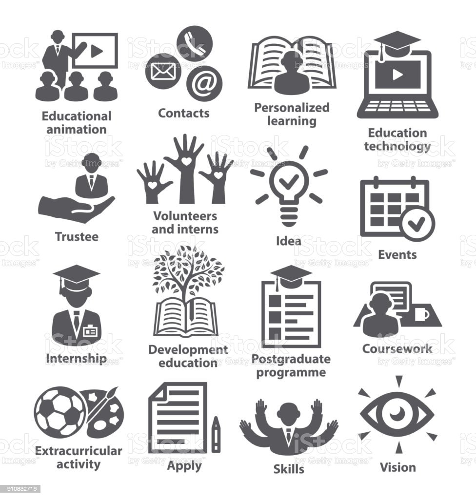 Business management icons Pack 35 vector art illustration