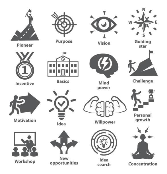 ilustrações, clipart, desenhos animados e ícones de ícones de gestão de negócios pack 41 - explorador