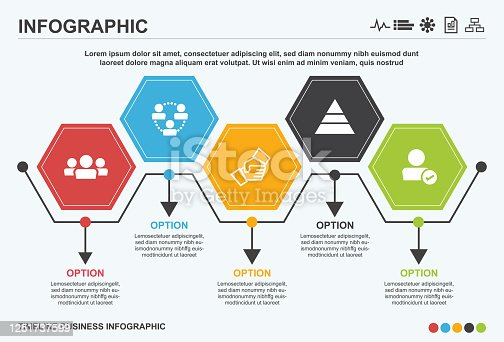 Business management infographic, infographic, business, timeline, icon