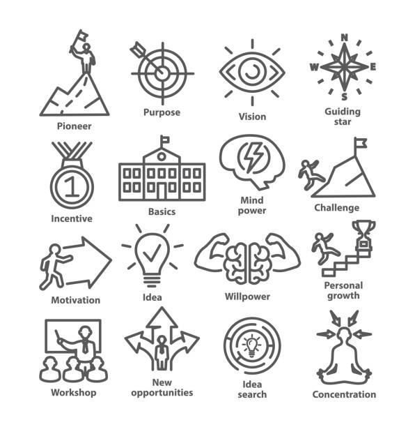 illustrazioni stock, clip art, cartoni animati e icone di tendenza di business management line icons pack 41 - opportunità