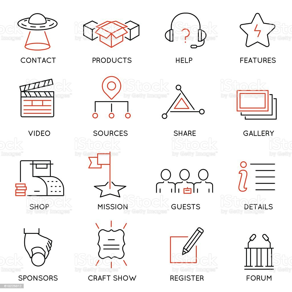Business management, marketing, maintain and service - part 2 vector art illustration