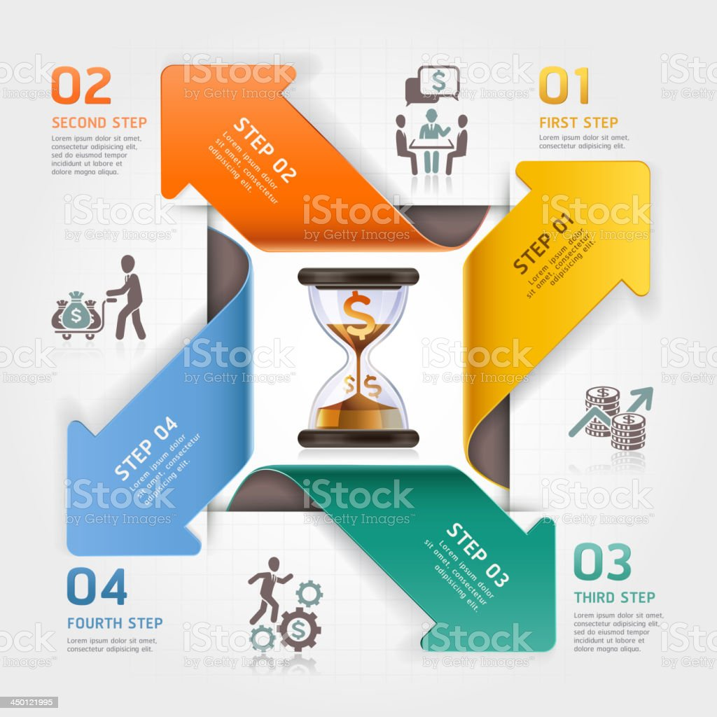 Business management planning infographics template. royalty-free stock vector art
