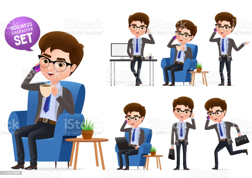 Business manager or clerk, vector Clipart | k61705902 | Fotosearch