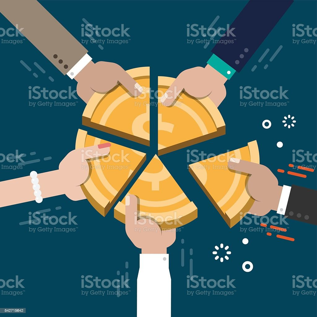 Business Market Share Competition Concept Illustration Vector vector art illustration