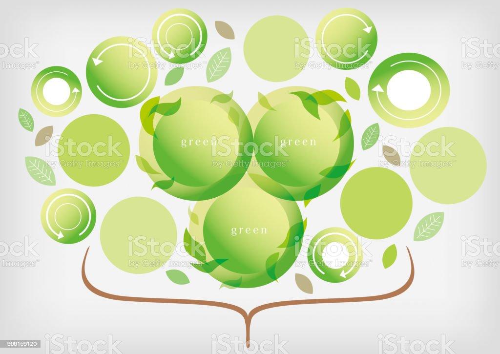 Zakelijke materialen groen groeien - Royalty-free Bedrijfsleven vectorkunst