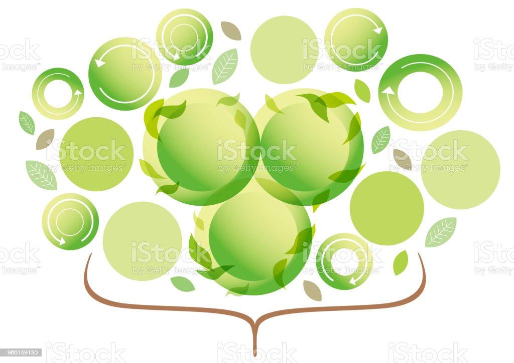 Business material växer grön - Royaltyfri Datorgrafik vektorgrafik