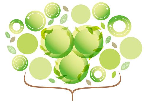 Business Materials Growing Green — стоковая векторная графика и другие изображения на тему Без людей