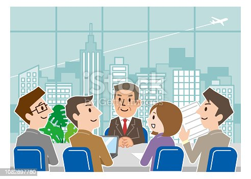 Business meeting at office room.