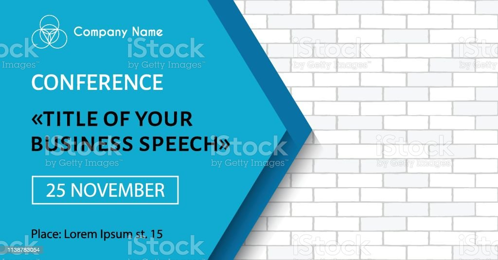 Business Meeting Flyer Vector Banner Template For Business Conference Announcement Facebook Event Size Stock Illustration Download Image Now Istock