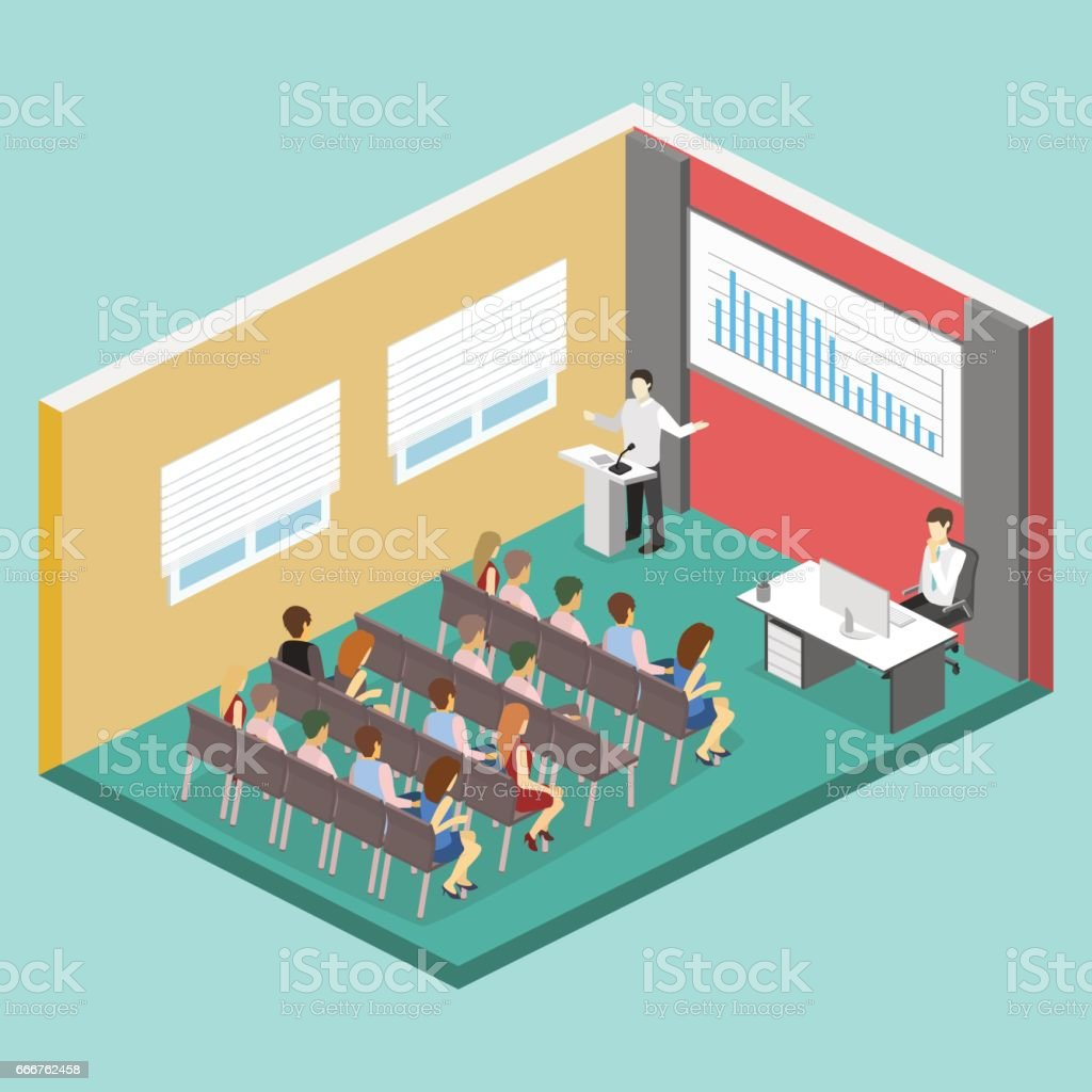 Business meeting in an office Business presentation meeting in conference hall. People listen to speakers. business meeting in an office business presentation meeting in conference hall people listen to speakers - immagini vettoriali stock e altre immagini di adulto royalty-free