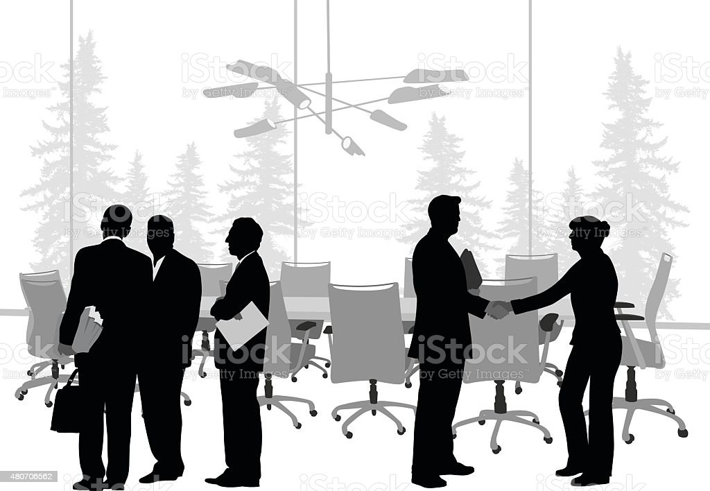 Business Meeting Introductions vector art illustration