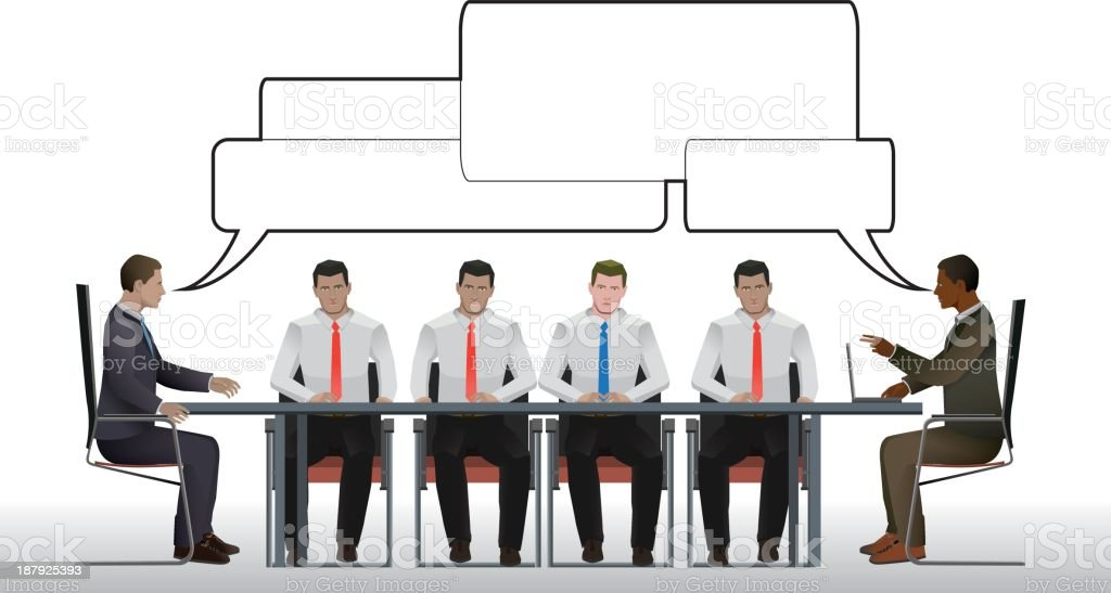 Business meeting negotiation royalty-free stock vector art