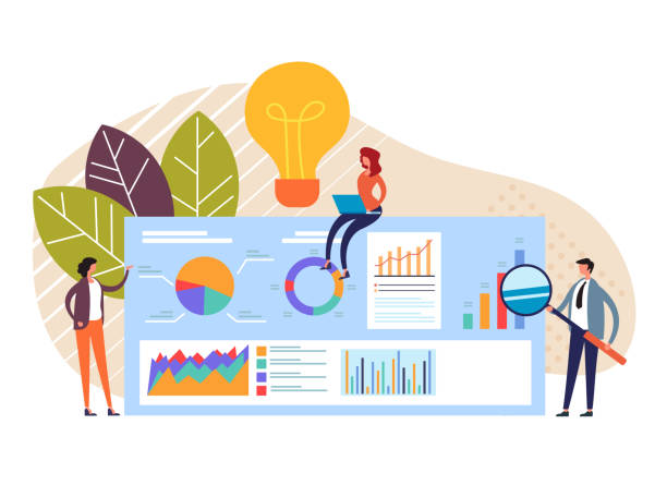 Business Meeting Teamwork-Konzept. Vektor flache Grafik-Design-Cartoon-Illustration – Vektorgrafik
