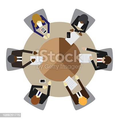 Board Room, Business Meeting, Working, Office, Circle