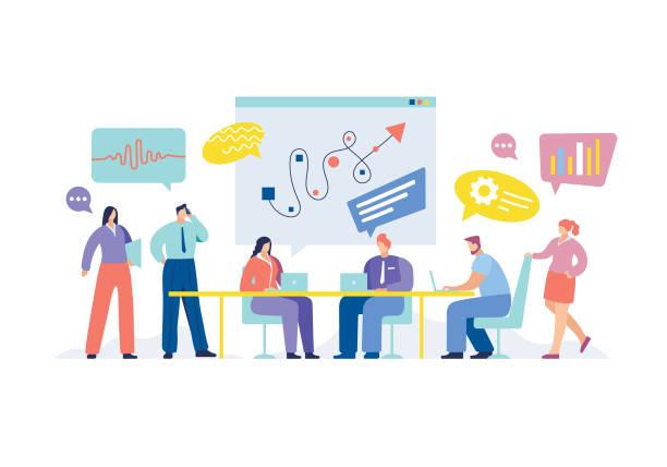 business meeting - meeting stock-grafiken, -clipart, -cartoons und -symbole