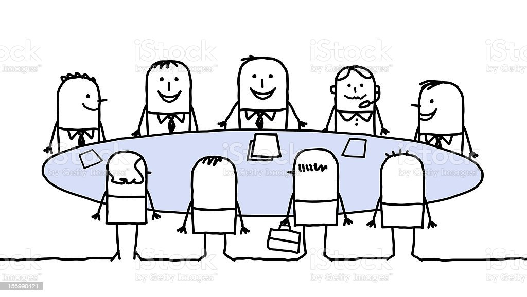 business meeting royalty-free stock vector art