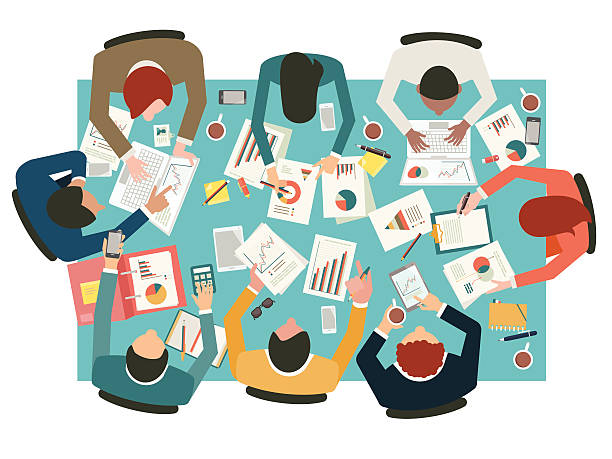 business meeting - gelenek stock illustrations