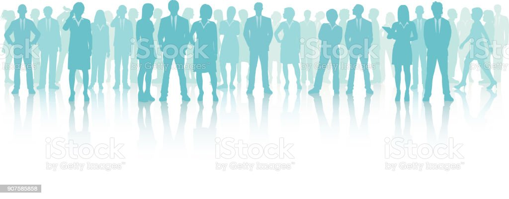 Business Meeting (All People Are Complete and Moveable) vector art illustration