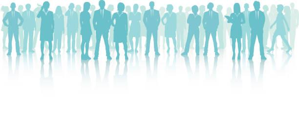 ビジネス会議 (すべての人々 が完全なと移動可能) - 背景に人点のイラスト素材/クリップアート素材/マンガ素材/アイコン素材