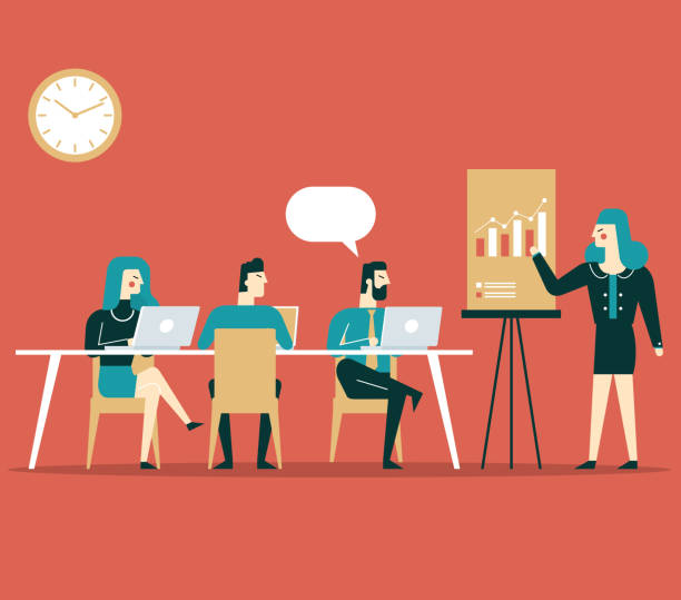 ilustrações de stock, clip art, desenhos animados e ícones de business meeting - business meeting