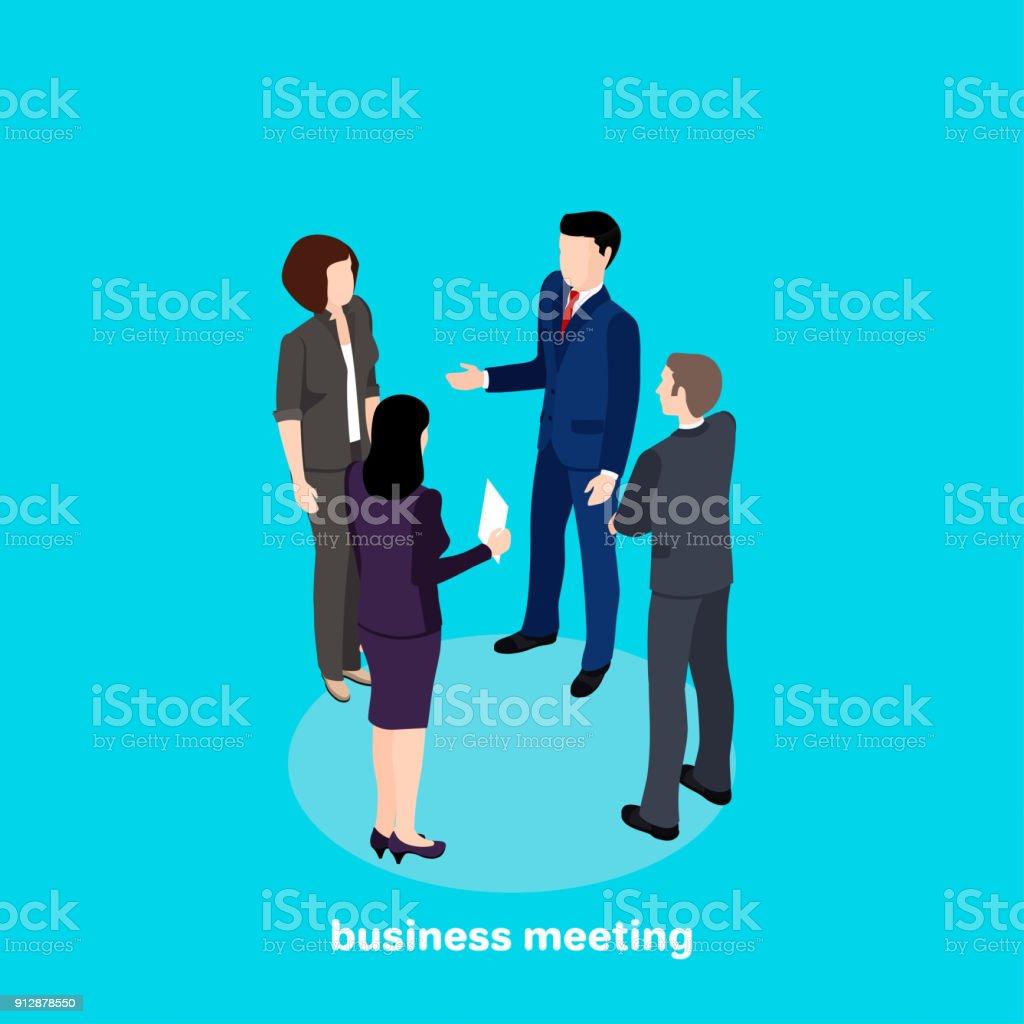 business meeting5 vector art illustration