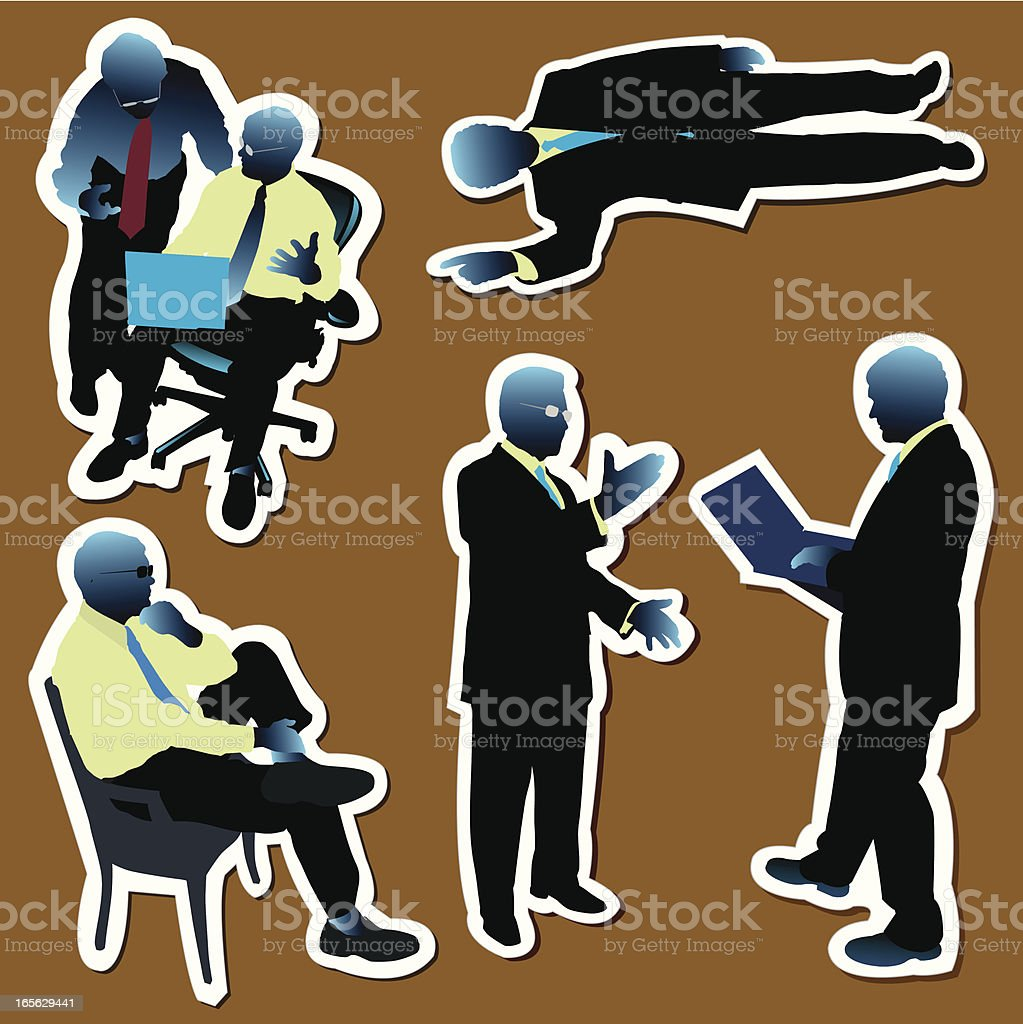 Business Meetings, Discussions royalty-free stock vector art