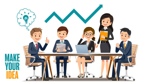 Businessperson Cartoon Clip art - People in the office ... |Business Meeting Cartoon Person