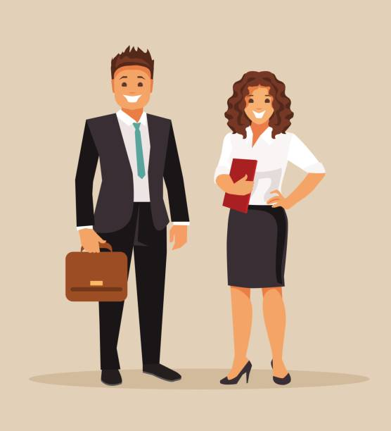 business men and women - lawyer stock illustrations, clip art, cartoons, & icons