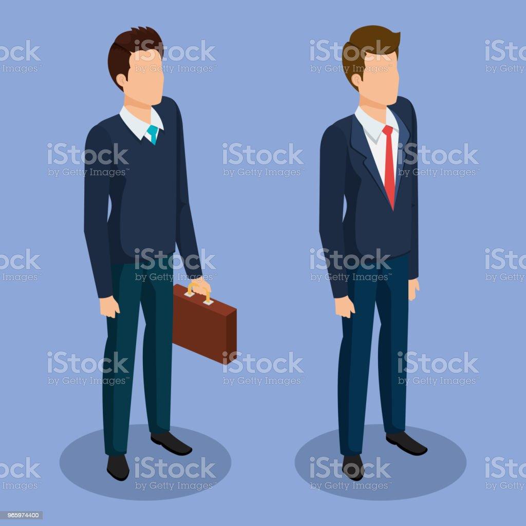 zakelijke mannen isometrische avatars - Royalty-free Attaché vectorkunst