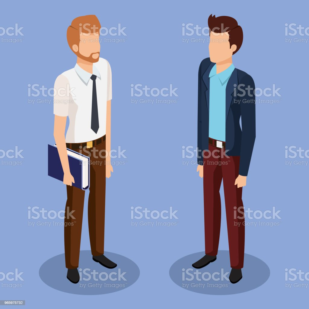 zakelijke mannen isometrische avatars - Royalty-free Avatar vectorkunst