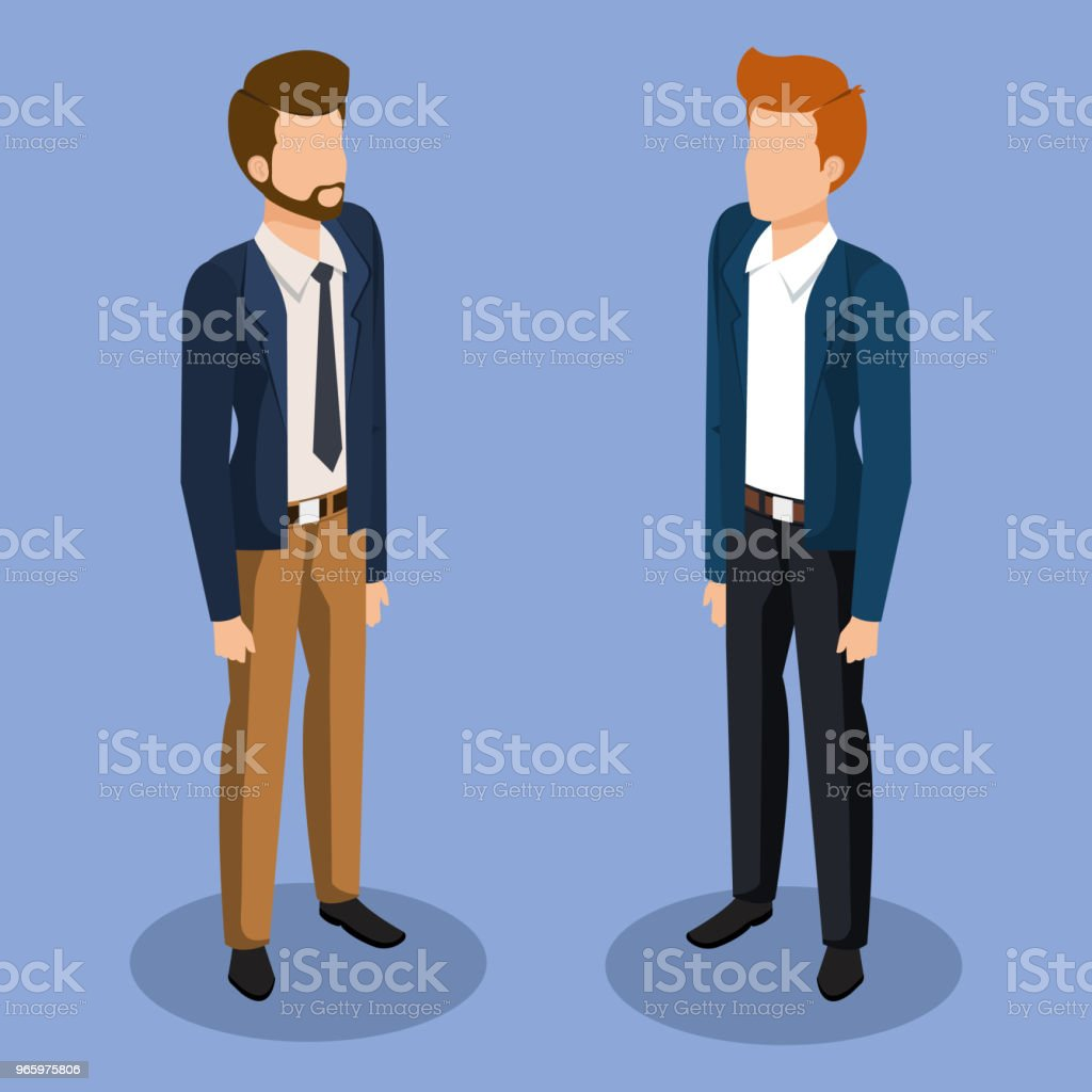 business men isometric avatars - Royalty-free Avatar stock vector