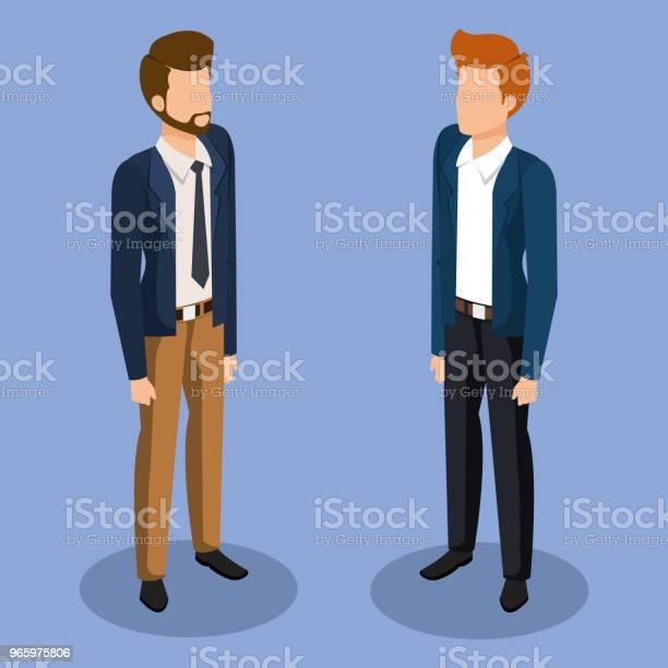Businessmänner Isometrische Avatare Stock Vektor Art und mehr Bilder von Anzug