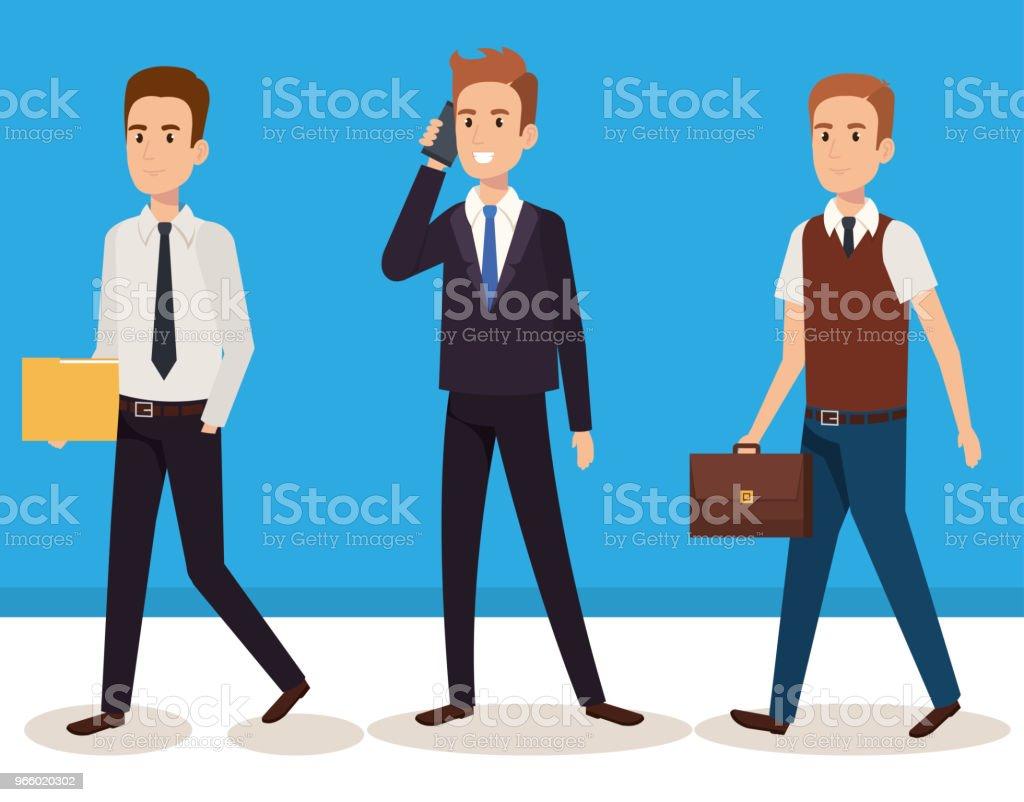 business men isometric avatars - Royalty-free Avatar stock vector