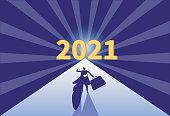 ,Business men rush to 2021