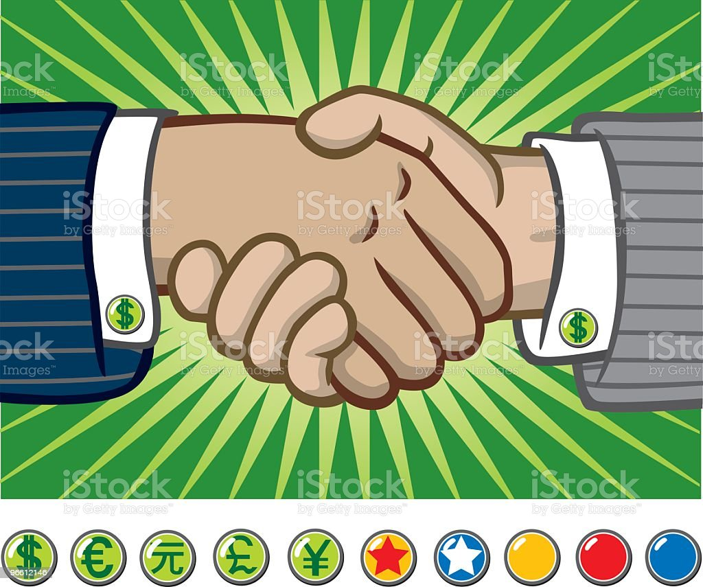 Business Men Shaking Hands - Royalty-free Admiration stock vector