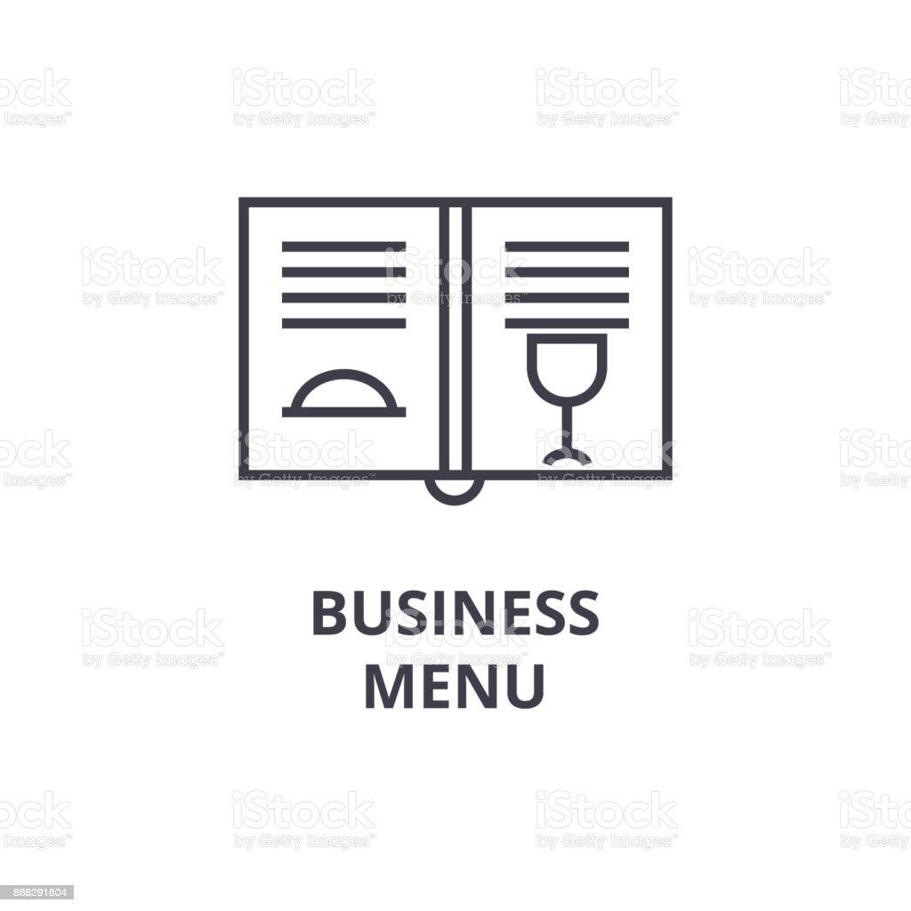ビジネス メニュー ライン アイコンアウトライン記号線形シンボル