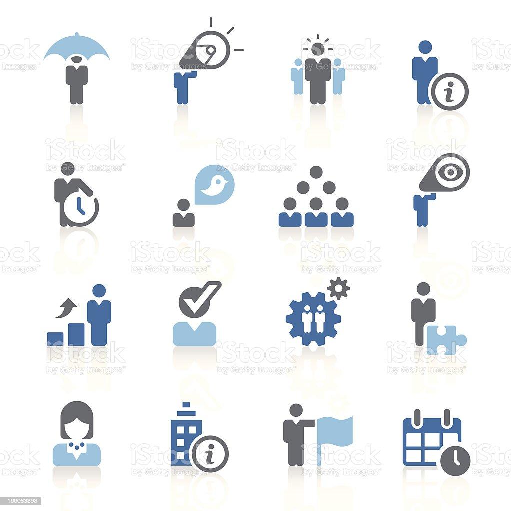 Business metaphor icons | azur series vector art illustration