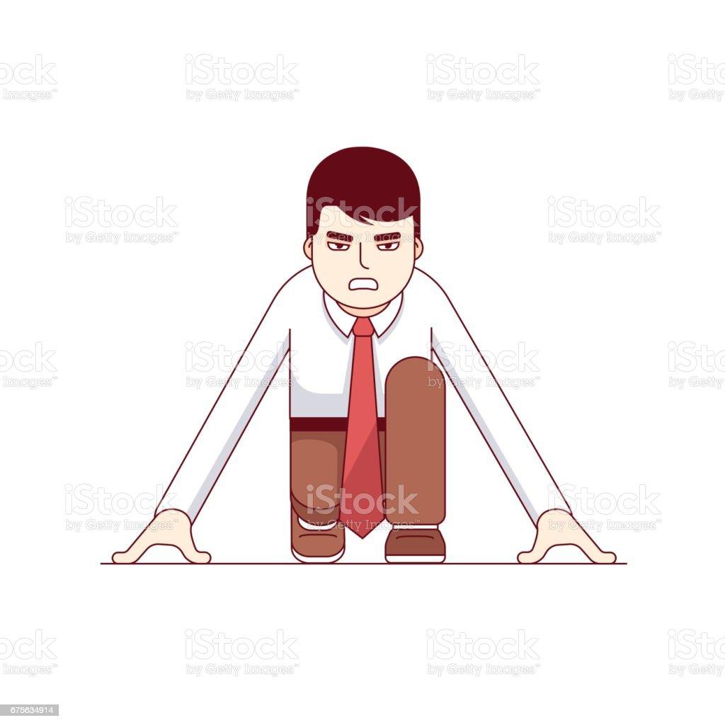 Business metaphor of start up entrepreneurship vector art illustration