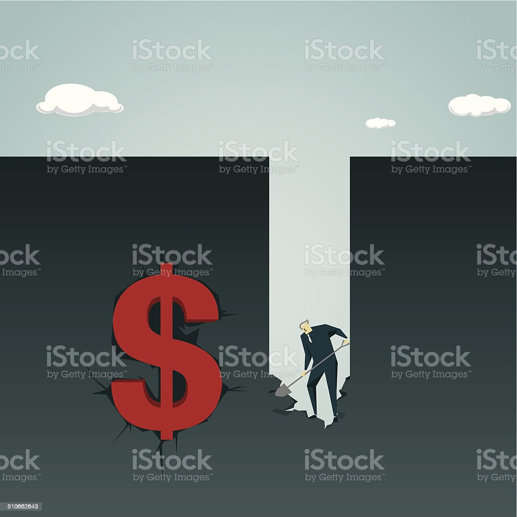 business metaphor vector art illustration