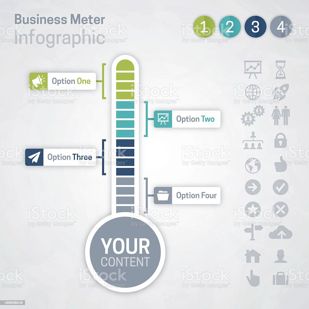 Business Meter vector art illustration