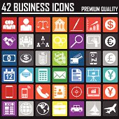 42 Business Metro icons set. Premium Quality