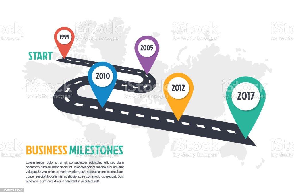 business minimal infographic template vector art illustration
