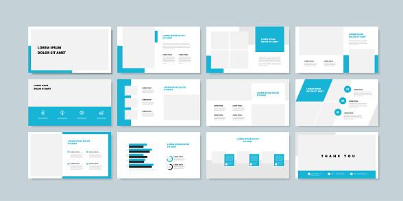 Business minimal slides presentation background template. business presentation template.
