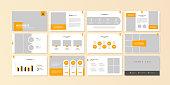 Business minimal slides presentation background template. business presentation template