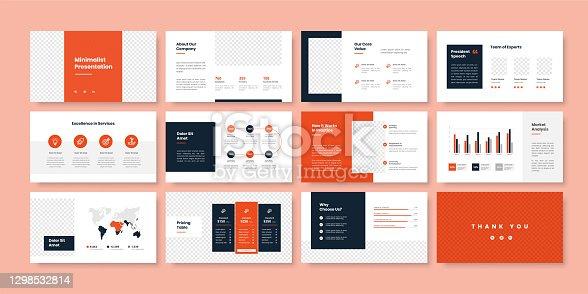 istock Business minimal slides presentation template 1298532814