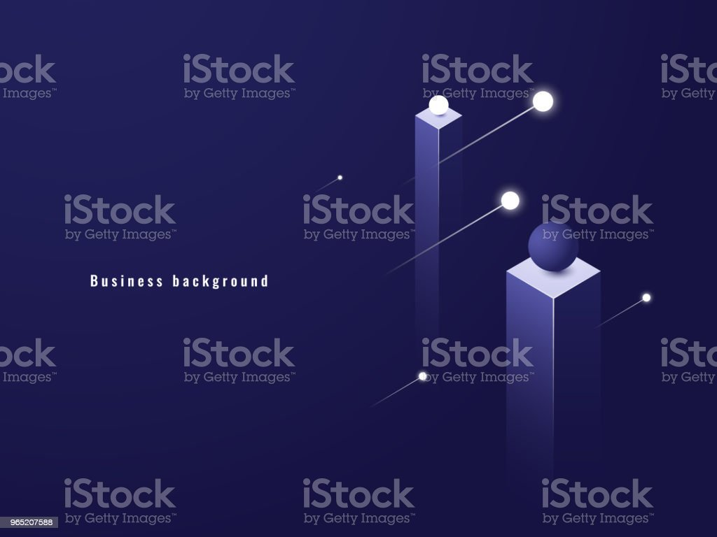 Business minimalism concept, data flow, futuristic illustration, columns isometric royalty-free business minimalism concept data flow futuristic illustration columns isometric stock illustration - download image now