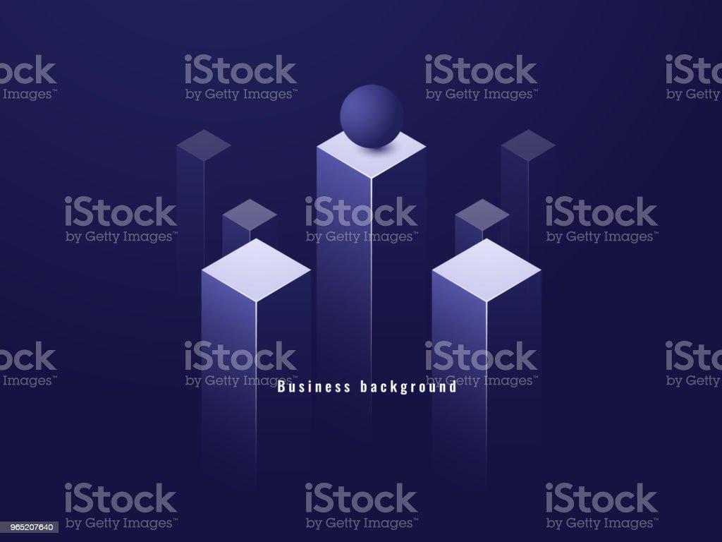 Business minimalism concept, data flow, futuristic illustration, columns isometric dark vector business minimalism concept data flow futuristic illustration columns isometric dark vector - stockowe grafiki wektorowe i więcej obrazów bez ludzi royalty-free