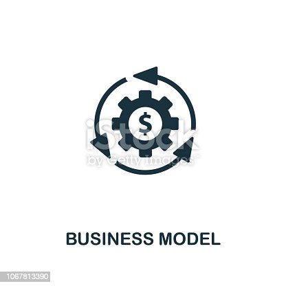 Business Model icon. Premium style design from startup collection. UX and UI. Pixel perfect business model icon for web design, apps, software, printing usage.
